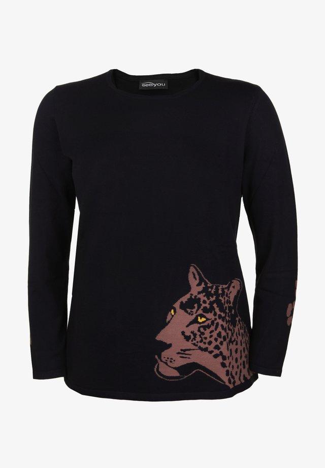 LEOPARD - Print T-shirt - schwarz