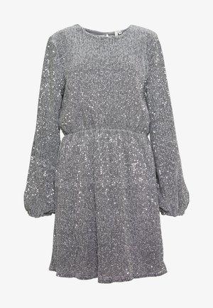 BALLOON SLEEVE DRESS - Vestido de cóctel - silver