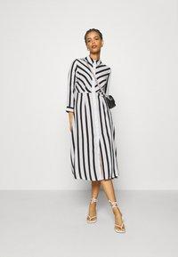 YAS - YASSAVANNA  - Shirt dress - black/white - 1