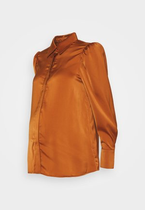 SHIRT WITH LONG SLEEVES - Blouse - rust