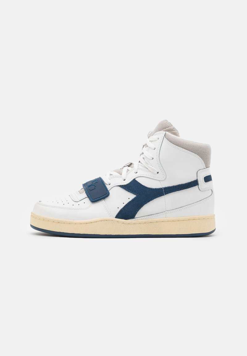 Diadora - MI BASKET USED UNISEX - Baskets montantes - white/paloma/dark denim