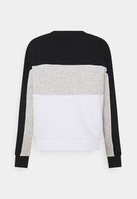 Fila - AMINA BLOCKED CREW - Felpa - bright white/black/light grey melange - 1