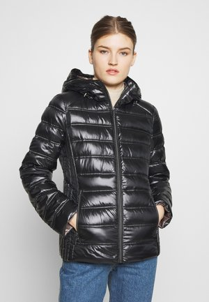 FITTED PACKABLE PUFFER HOOD - Doudoune - black