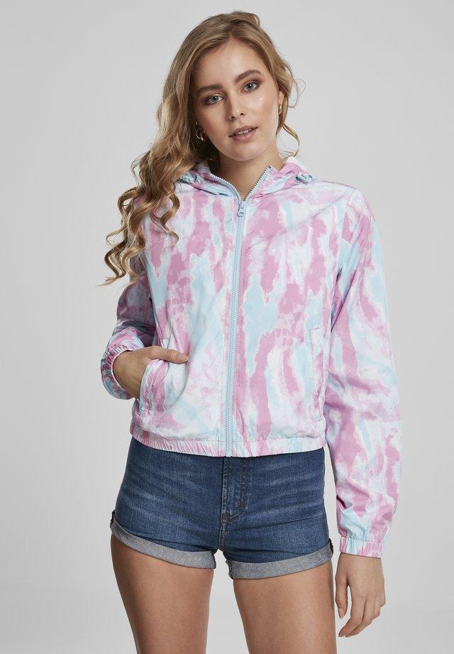 Windbreakers - aqua blue/pink