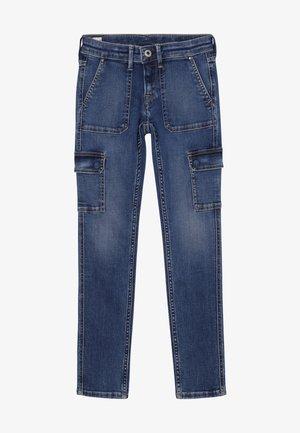 PIXLETTE CARGO - Jeans Skinny Fit - denim