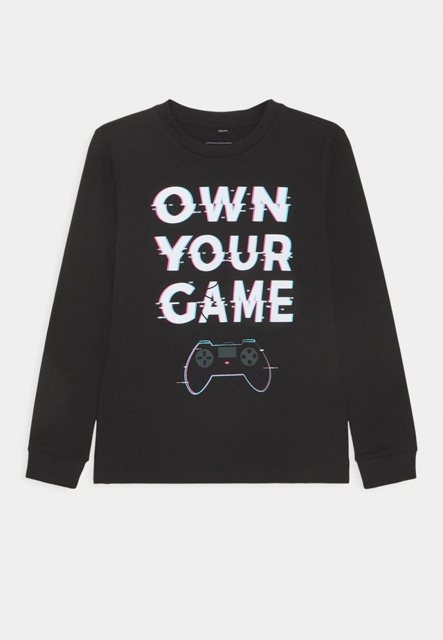 OWN YOUR GAME UNISEX - Topper langermet - black