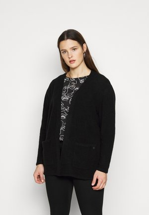 COZY CARDIGAN - Kardigan - deep black