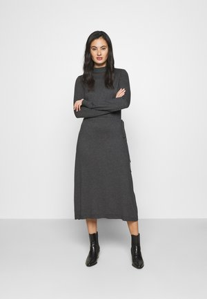 VMSHARM HIGHNECK DRESS VIP - Jumper dress - dark grey melange