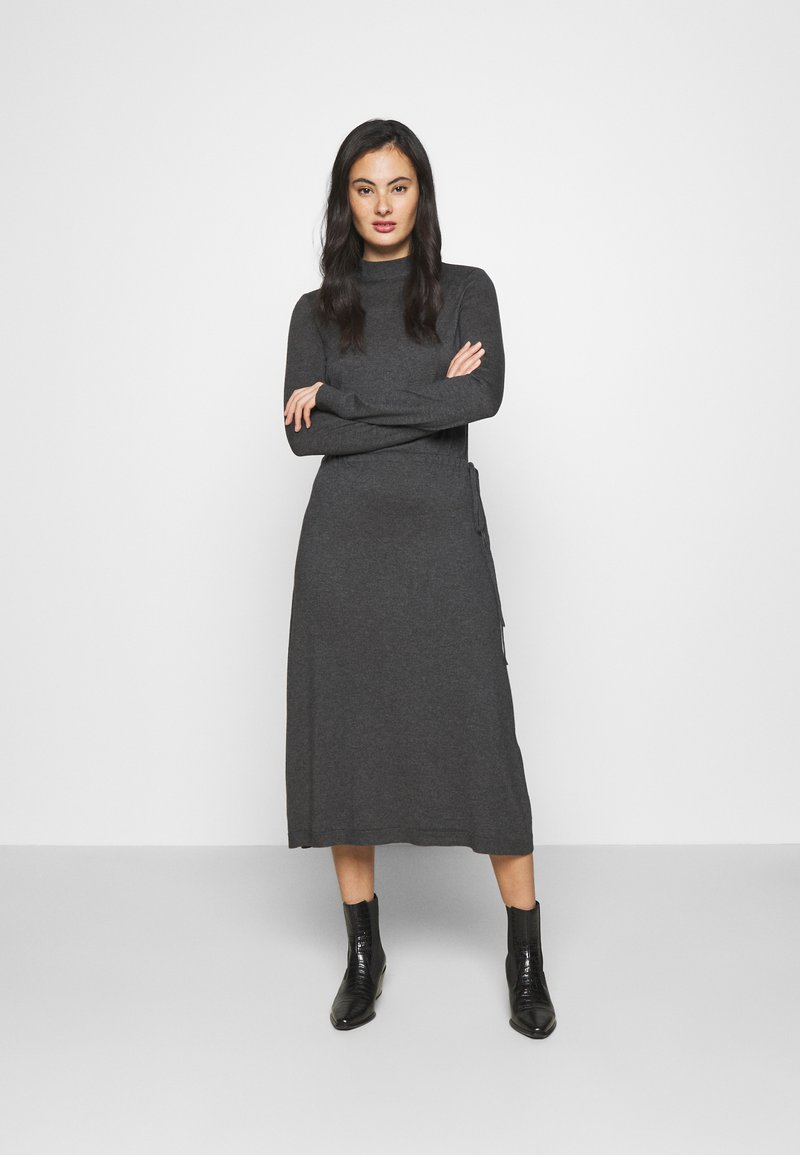 Vero Moda - VMSHARM HIGHNECK DRESS VIP - Jumper dress - dark grey melange