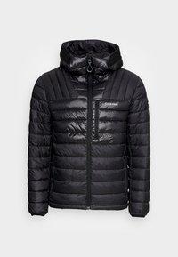 ENGINEERED HOODED QUILT JACKET - Light jacket - black