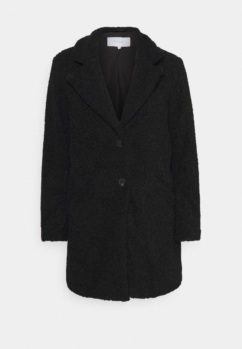 VILA PETITE - VILIOSI TEDDY PETITE - Classic coat - black