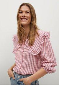 Mango - Button-down blouse - rosa - 0