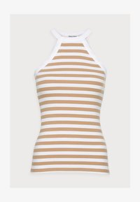 Selected Femme - SLFANALIPA TOP STRIPE - Top - bright white/ kelp - 4