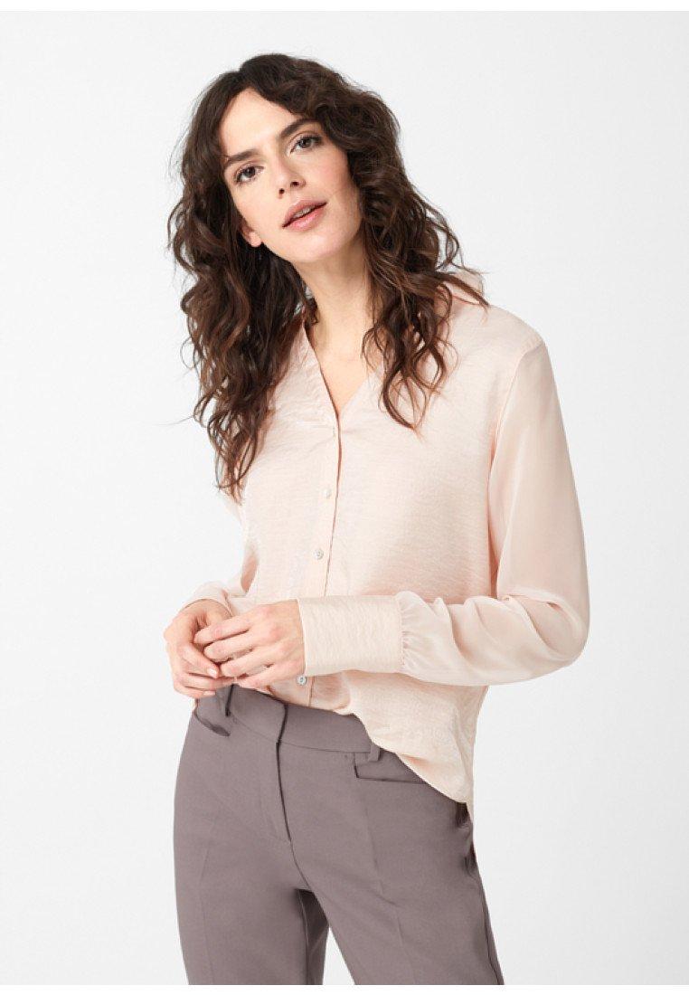 comma - Button-down blouse - salmon