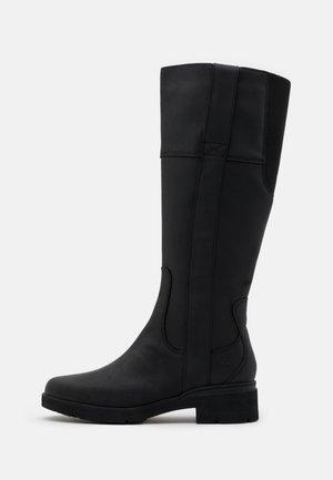 GRACEYN TALL SIDE ZIP WP - Boots - black