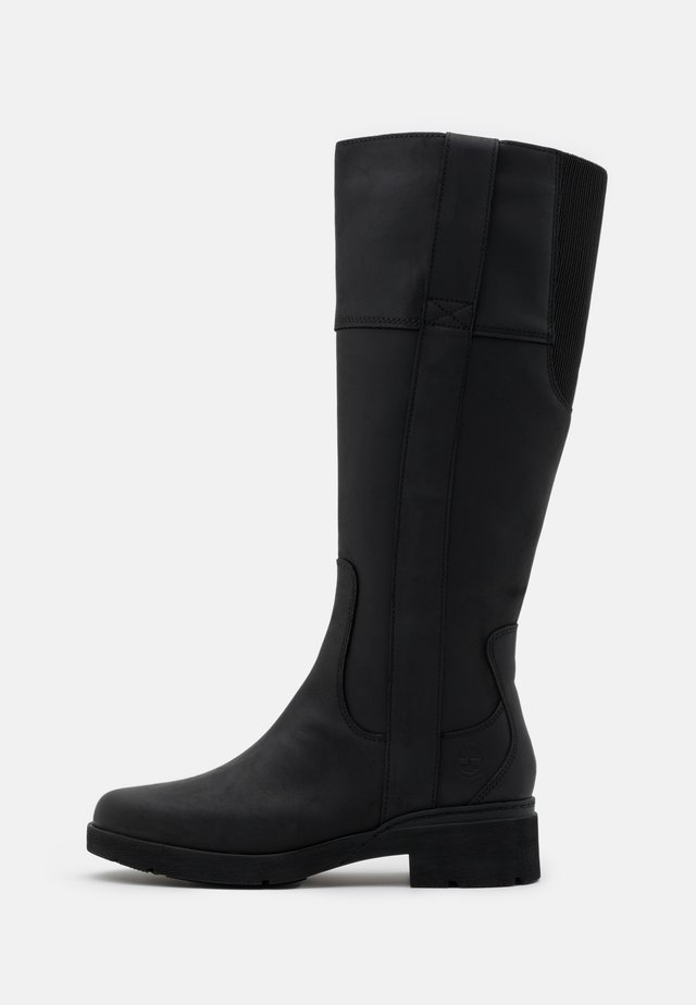 GRACEYN TALL SIDE ZIP WP - Boots - black