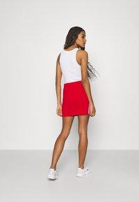 adidas Originals - THREE STRIPES SKIRT - Minifalda - red - 2