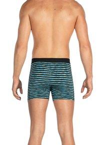 SAXX Underwear - VIBE TRUNK - Pants - Black Space Hiker Stripe - 1