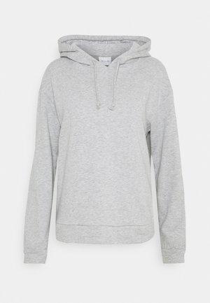 VIRUST HOODIE - Sweatshirt - mottled light grey