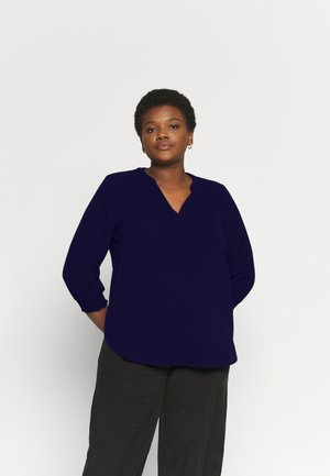 CARLUXCILLE 3/4 SOLID - Blouse - evening blue