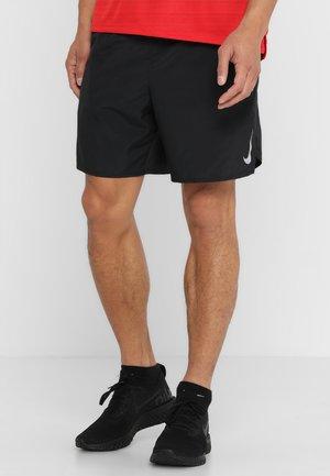 CHALLENGER SHORT - Sports shorts - black/black/reflective silver