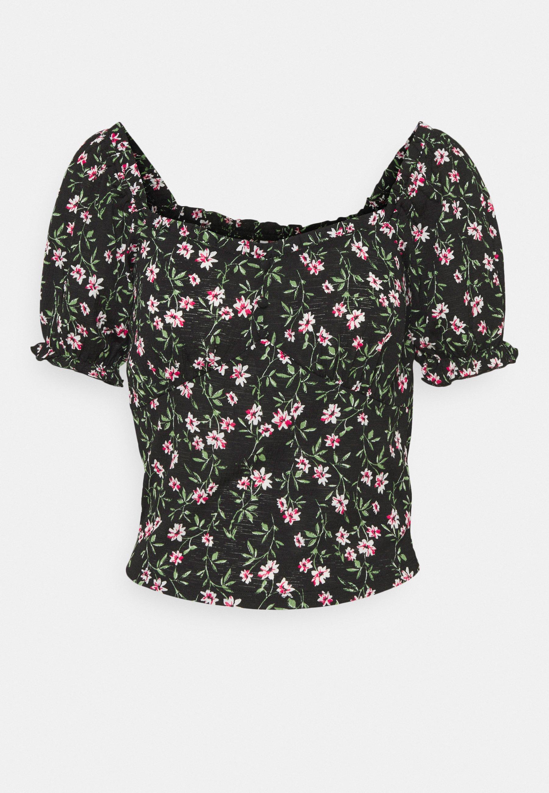 Women ONLPELLA  V-NECK TOP - Print T-shirt