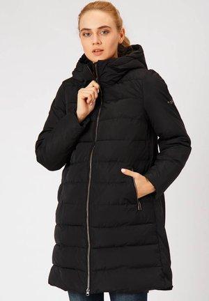 MIT STEHKRAGEN UND KAPUZE - Winter coat - black