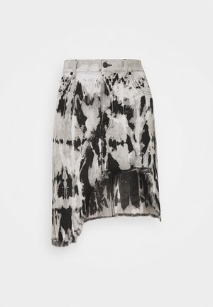 DE-ELLYOT-SP SKIRT - Denim skirt - black/white
