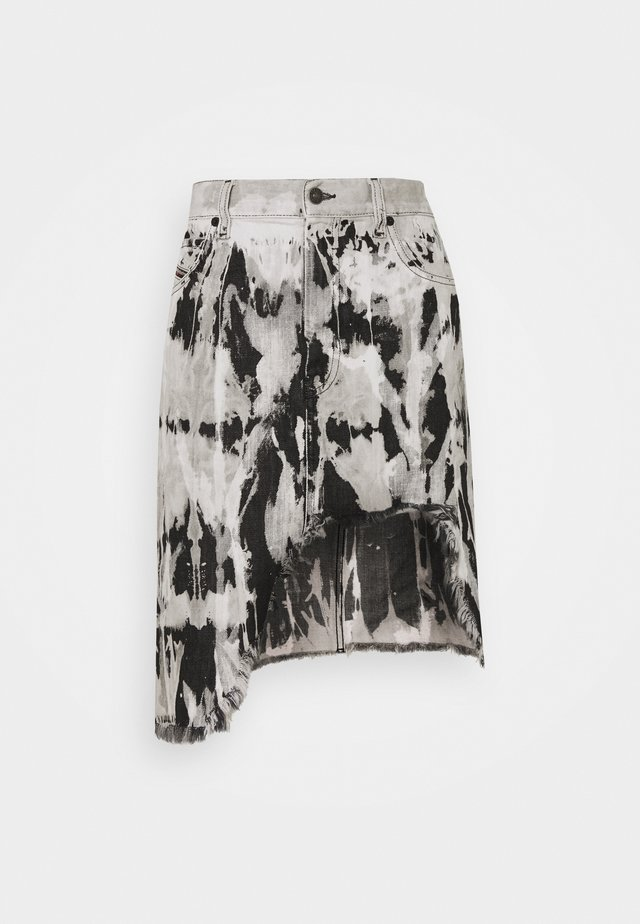 DE-ELLYOT-SP SKIRT - Farkkuhame - black/white