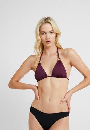 LAS SIMPLE - Bikini top - bordeaux