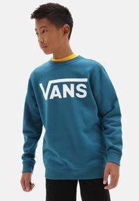Vans - BY VANS CLASSIC CREW BOYS - Felpa - moroccan blue/white - 0
