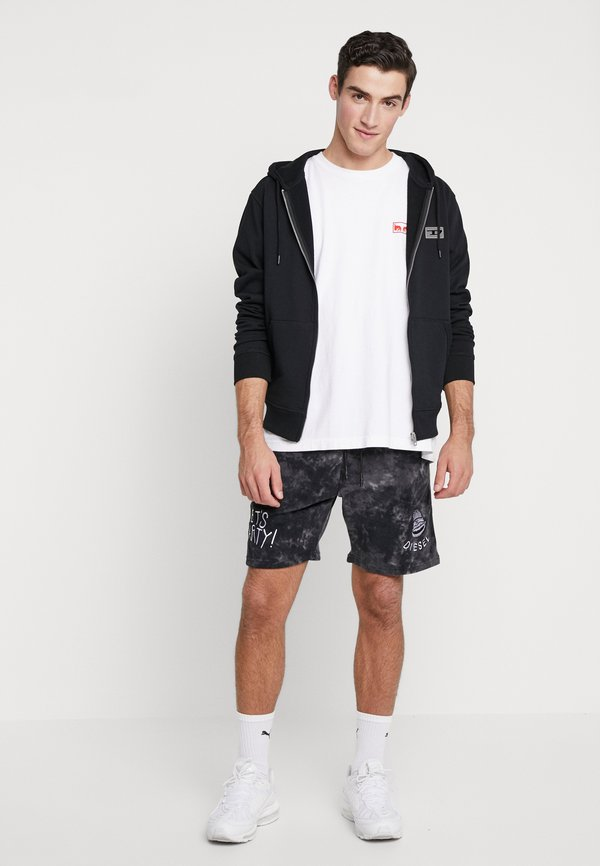 Diesel BRANDON - Bluza rozpinana - black/czarny Odzież Męska HLIU
