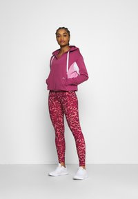 Under Armour - RIVAL HOODIE - Collegepaita - pink quartz - 1