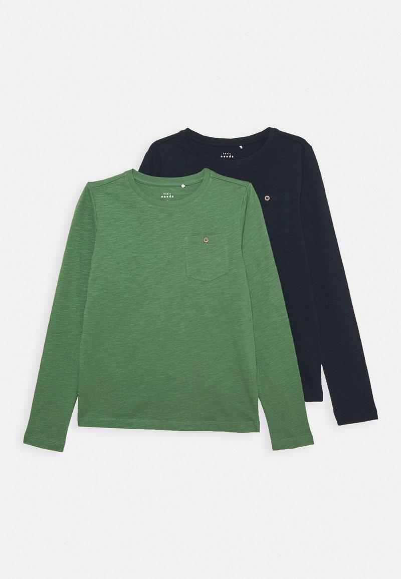Name it - NKMVEBBE 2 PACK - Long sleeved top - dark sapphire/dark ivy