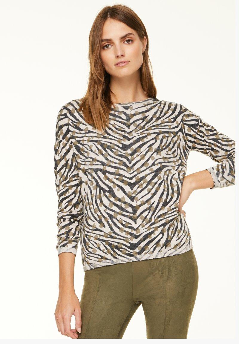 comma casual identity - Jumper - khaki zebra and flower