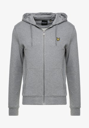 ZIP THROUGH HOODIE - Zip-up hoodie - mid grey marl