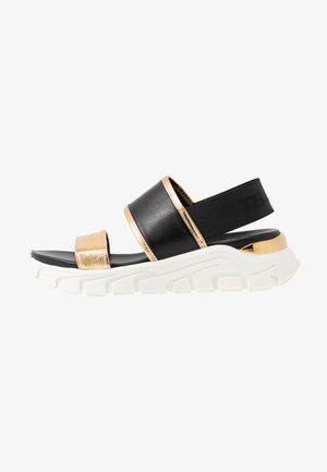PONZA - Platform sandals - nero/platino