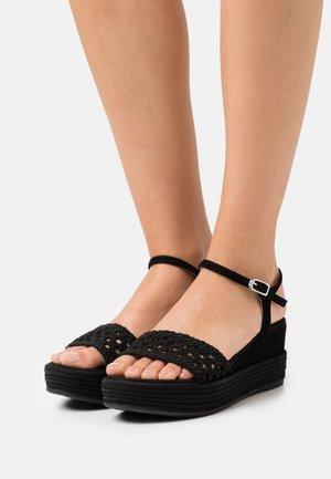 KISOME  - Platform sandals - black