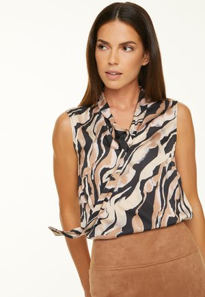 Blouse - black zebra lines