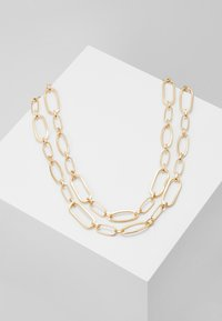 ERASE - TWO ROW MIXED LINK CHAIN - Necklace - gold-coloured - 0