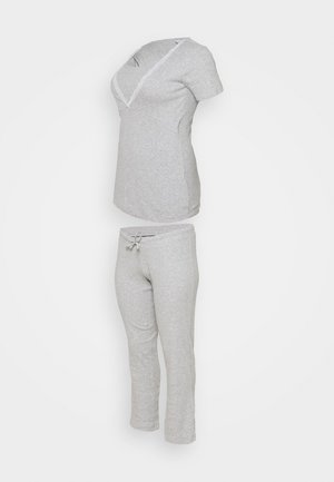 MLAMAJA TESS SET - Pijama - light grey melange
