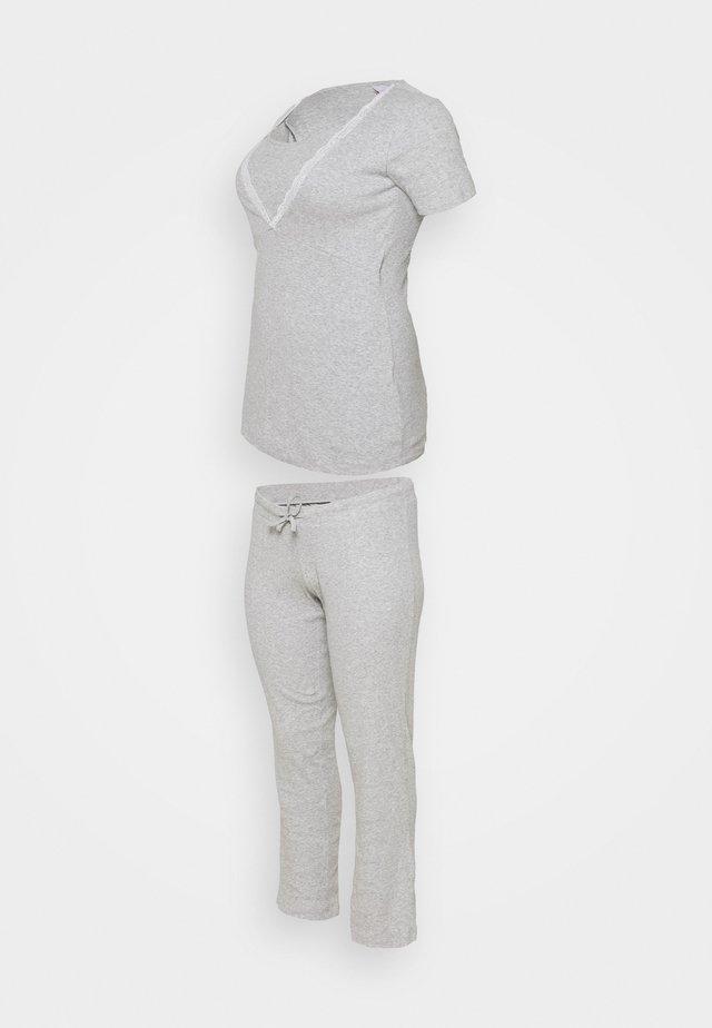 MLAMAJA TESS SET - Pyžamo - light grey melange