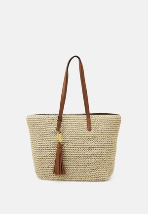 CROCHET TOTE - Handbag - natural