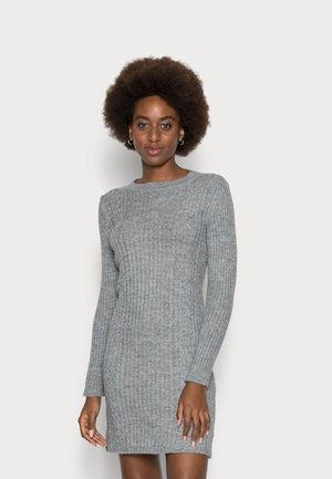 Pletené šaty - mottled light grey