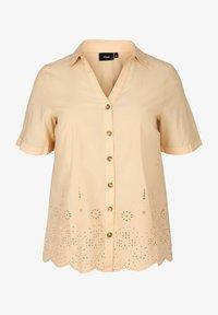 Zizzi - Button-down blouse - beige - 3