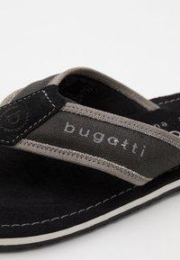 Bugatti - ARTRIANIC - T-bar sandals - black/light grey - 5