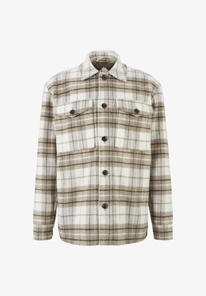 Light jacket - off white beige big cosy check