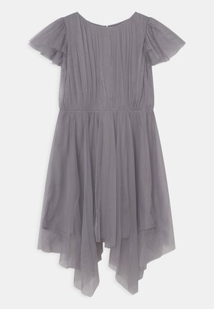 GATHERED DRESS WITH HANKY HEM - Cocktailjurk - lilac grey