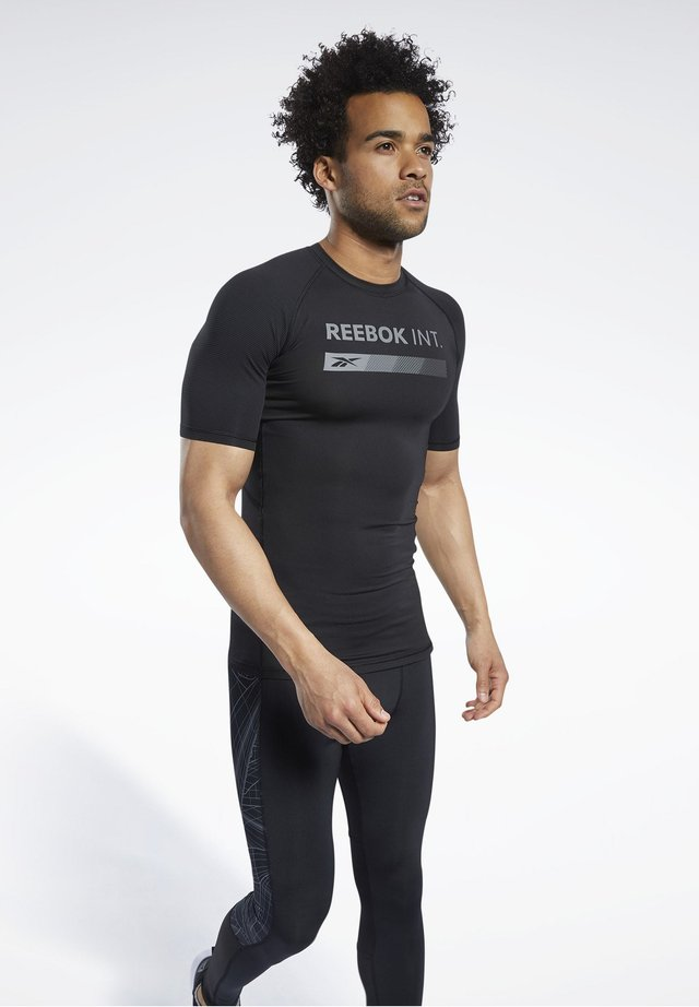 COMPRESSION GRAPHIC - T-Shirt print - black