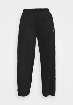 WIDE LEG  - Trainingsbroek - black/white